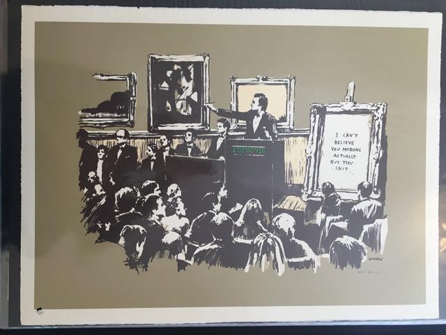 Banksy, 'Morons (Sepia) (Signed)', 2006, Prescription Art