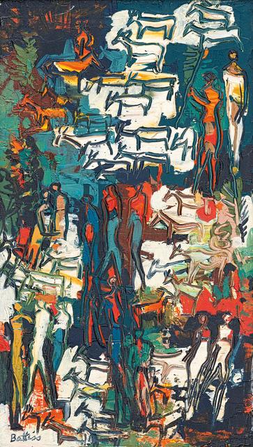 Walter Battiss, 'Goat Herders', Painting, Oil on board, Strauss & Co
