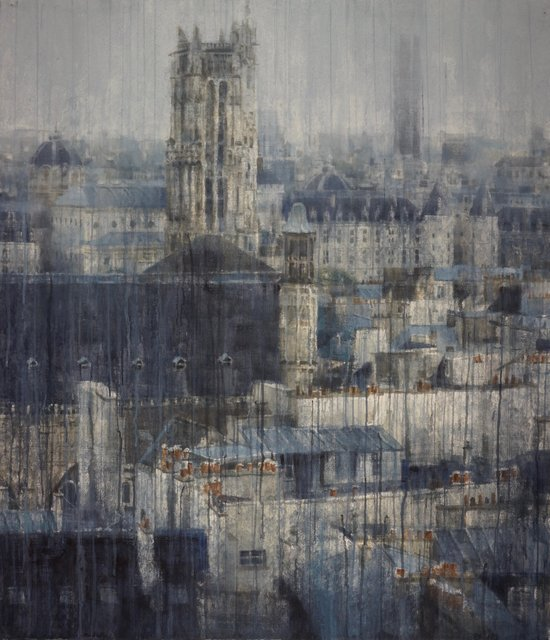 Chizuru Morii Kaplan, 'Parisian Rooftops ', 2018, Eckert Fine Art