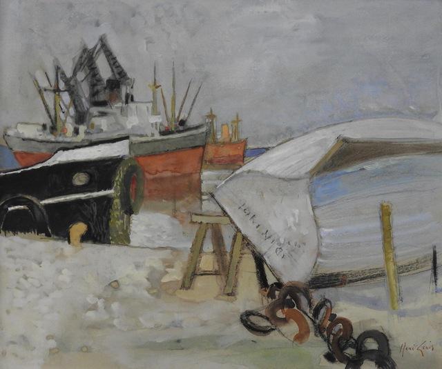 Rene Genis, 'La barque retournée (Bordeaux)', ca. 1958, Artioli Findlay