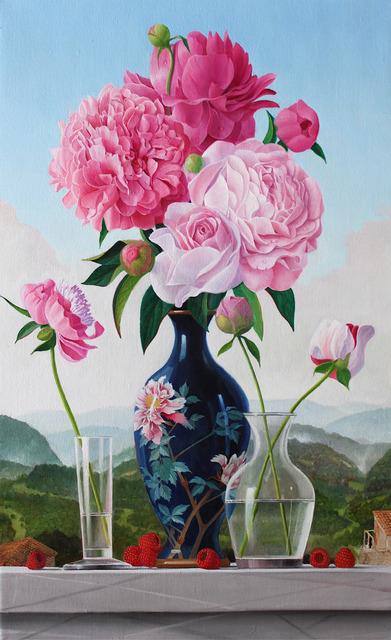 , 'Peonies in a Japanese Vase,' 2013, Clark Gallery
