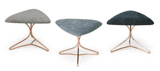 Vladimir Kagan, 'Set of three stools, New York', 1970s, Rago