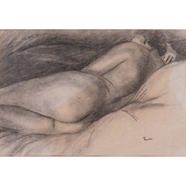 Maximilien Luce, 'Reclining nude', PIASA