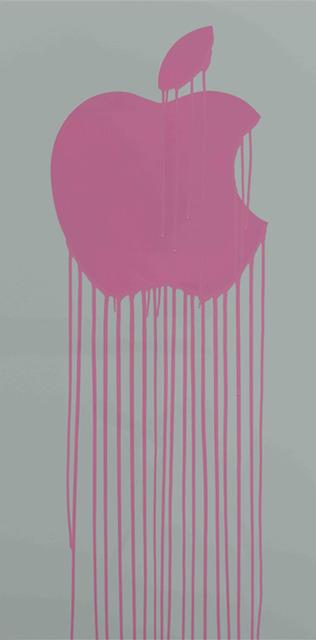 Zevs, 'Liquidated Apple - Grey and Pink', 2013, Dallas Collectors Club