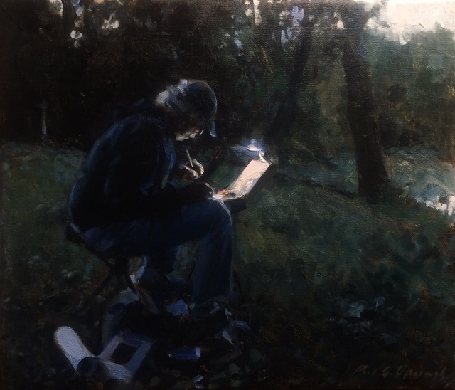 , 'Painter at Dusk,' 2015, Cavalier Galleries