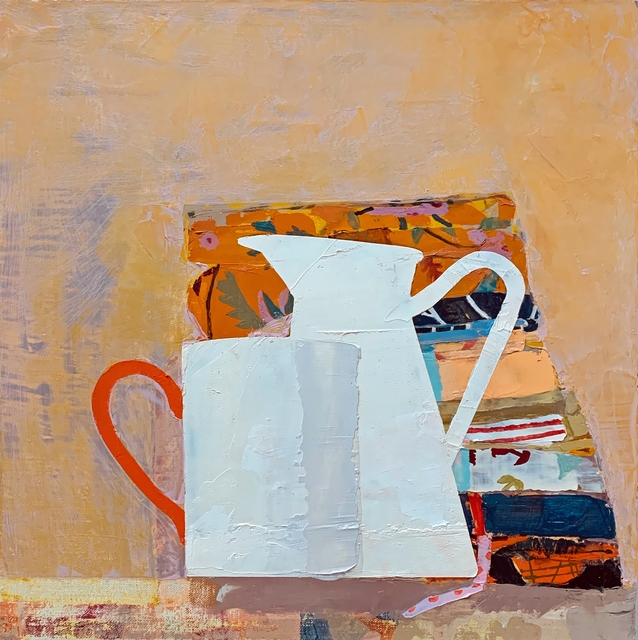 Sydney Licht, 'Still Life with Fat Quarters, Cup & Pitcher', 2020, Painting, Oil on linen, Kathryn Markel Fine Arts