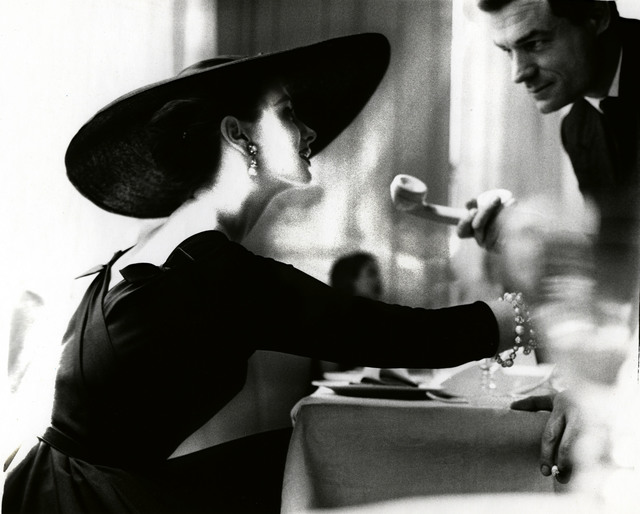 ", '""The V-Back Evenings"", Dress by Trigere, Suzy Parker, New York, Harper's Bazaar, July 1955,' 1955, Edwynn Houk Gallery"