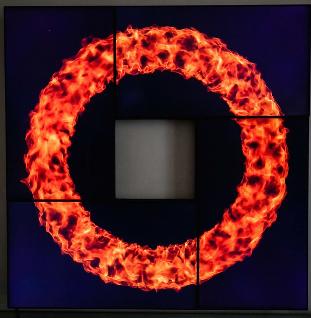 , 'Fire Small Circle,' 2015, Opera Gallery