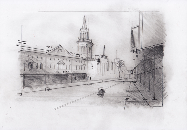 , 'Oxford Drawing #3 Oxford High Street Looking East ,' 2017, Sarah Wiseman Gallery