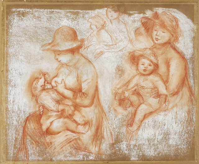 Pierre-Auguste Renoir, 'Studies for Mother and Child (Maternité)', ca. 1885, Art Gallery of Ontario (AGO)