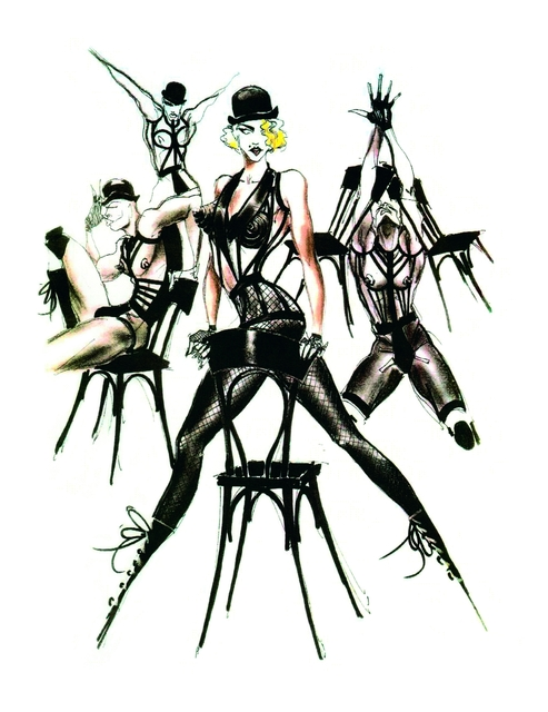 , 'Sketch of Madonna's stage costumes for her Blond Ambition World Tour,' 1989-1990, Brooklyn Museum
