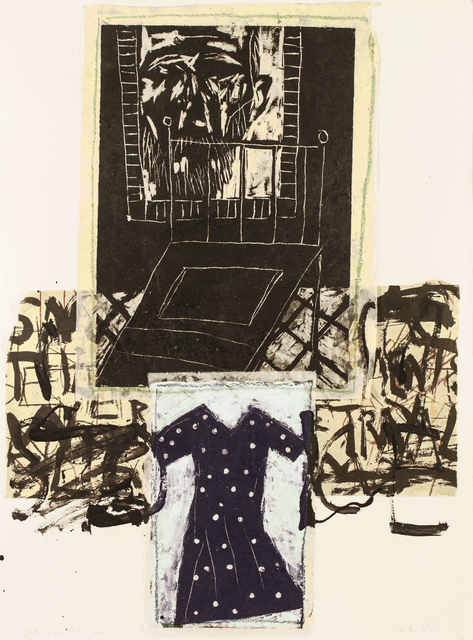 Marcus Rees Roberts, 'Snow Fell I', 2018, Print, Monotype, Pratt Contemporary