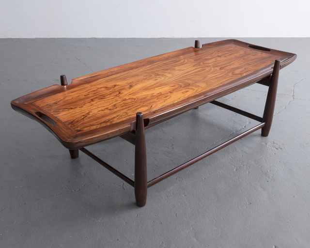 , 'Arimello coffee table with handles in jacaranda and a solid jacaranda frame. Designed by Sergio Rodrigues, Brazil, 1958.,' 1958, R & Company
