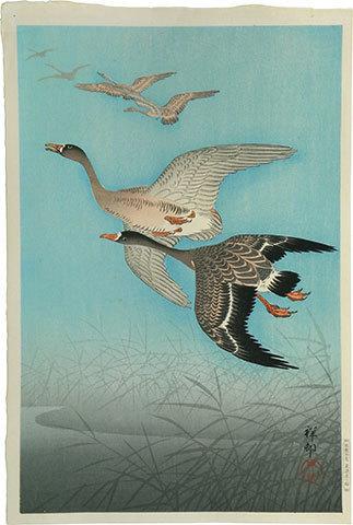 , 'Wild Geese,' ca. 1926, Scholten Japanese Art