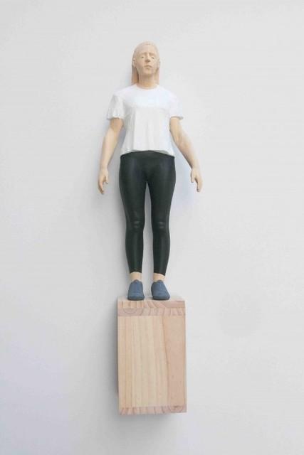Antonio Samo, 'Girl in white', 2020, Sculpture, Ayous and pine wood, SET ESPAI D'ART