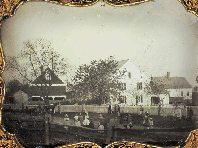, 'Children Playing in a Schoolyard in Late Fall or Winter, ¼ plate daguerreotype,' 19th Century, Be-hold