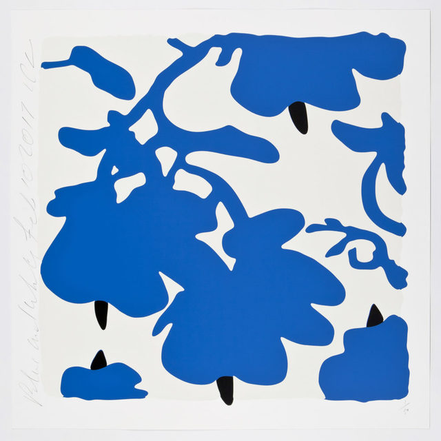 Donald Sultan, 'Lantern Flower (Blue and White)', 2017, Maune Contemporary