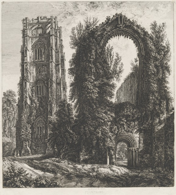 George Cuitt the Younger, 'Fountains', 1822, Print, Etching, National Gallery of Art, Washington, D.C.