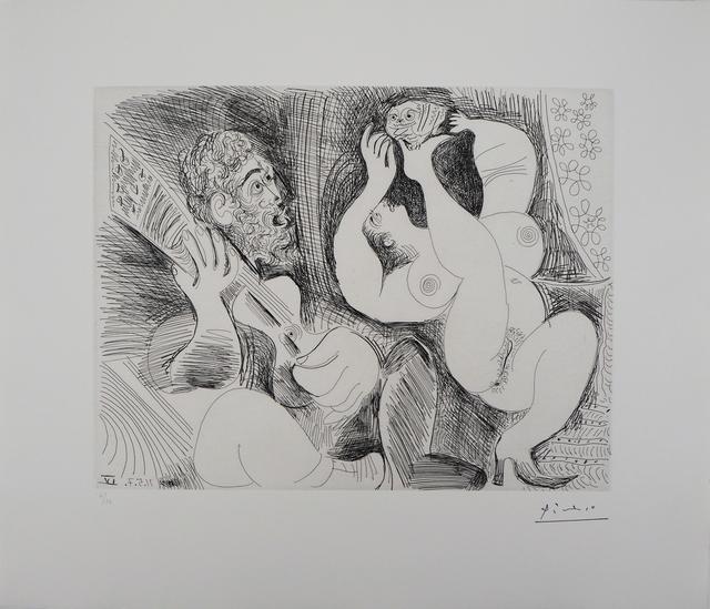 Pablo Picasso, 'Dancer, Musician and a Owl', 1881-1973, Plazzart