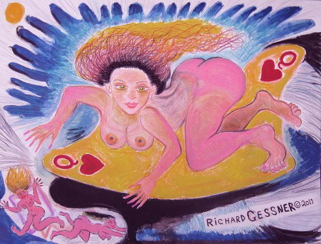 , 'Queen of Hearts Surf Siren,' 2011, Gold/Scopophilia*