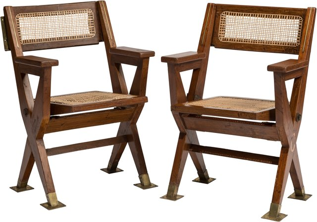 Pierre Jeanneret, 'Pair of Cinema Chairs from the Tagore Theatre, Chandigarh', circa 1960, Heritage Auctions