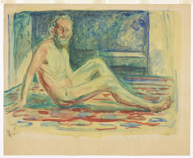Edvard Munch, 'Selvportrett akt, sittende', 1903, Drawing, Collage or other Work on Paper, Munch Museum