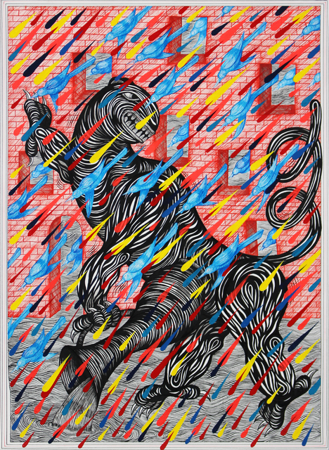 , 'Beast with Vessel (Brick Facade),' 2018, Galerie Droste