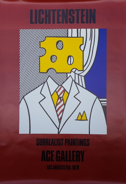 Roy Lichtenstein, 'Surrealist Paintings: Ace Gallery (Signed)', 1978, Posters, Offset-Lithograph, Exhibition Poster, Graves International Art