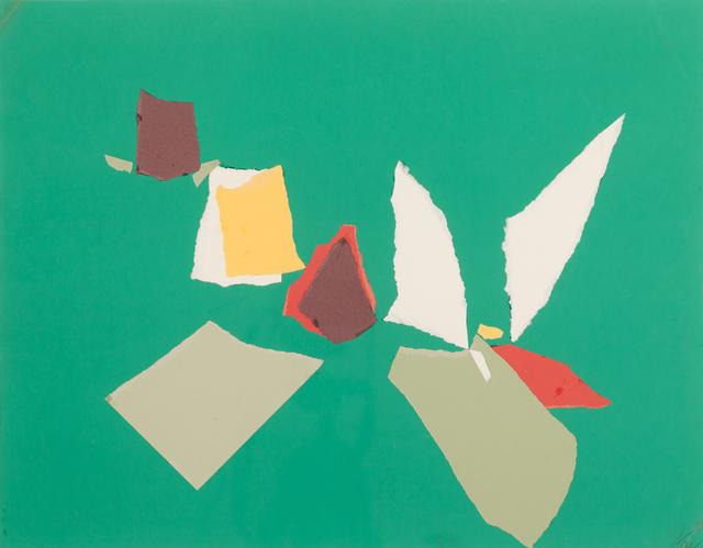 , 'Composition Fond Vert,' 1953, Omer Tiroche Gallery