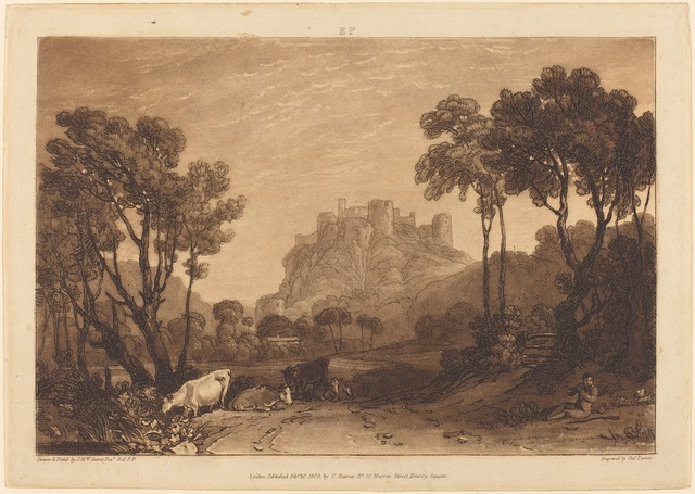 J. M. W. Turner, 'The Castle Above the Meadows', published 1808, Print, Etching and mezzotint, National Gallery of Art, Washington, D.C.