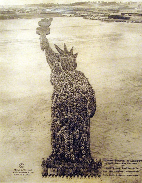 , 'Human Statue of Liberty,' ca. 1918, Carl Hammer Gallery