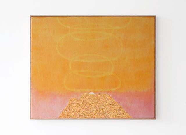 , 'Smoke Ring Mountain (deep yellow),' 2017, GRIMM