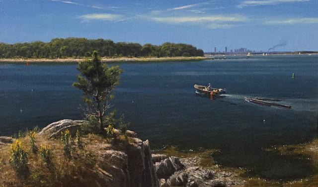 Joseph McGurl, 'The Boston Harbor Islands Project: Salvaging Lumber, Slate Island', 2018, The Guild of Boston Artists