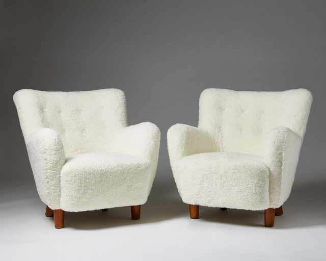 , 'Pair of armchairs,' 1940-1949, Modernity