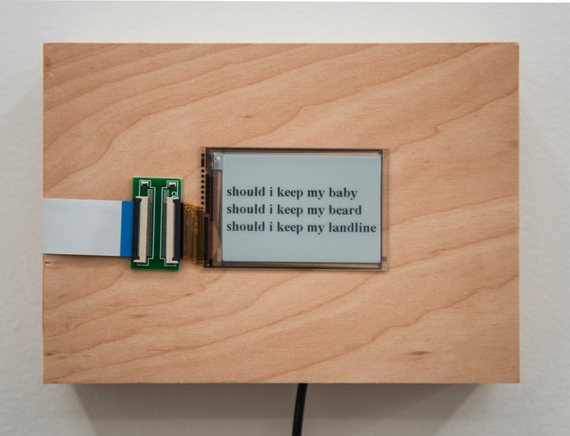 , 'should i keep my...,' 2015/2016, Postmasters Gallery