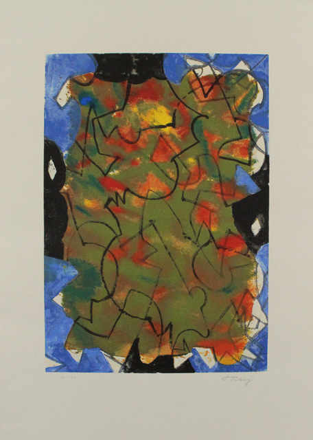 Mark Tobey, 'Glowing Fall', 1975, Print, Color lithograph, Sylvan Cole Gallery