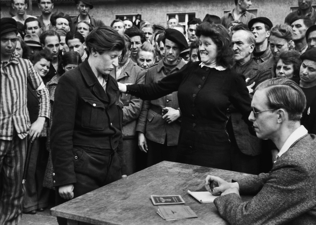 , 'A YOUNG BELGIAN WOMAN IS DENOUNCED AS A GESTAPO INFORMER, DESSAU, APRIL 1945,' 1945, Huxley-Parlour