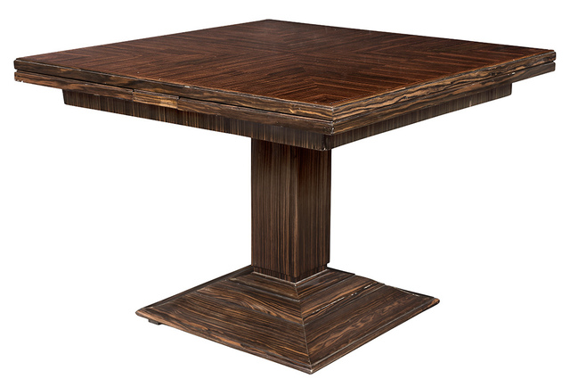 'Émile-Jacques Ruhlmann Rosewood Model 1315 NR Extension Dining Table', circa  1930, Doyle