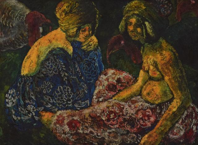 George Manzana-Pissarro, 'Scène Orientaliste, Deux Femmes Assises et Dindons', ca. 1910, Stern Pissarro