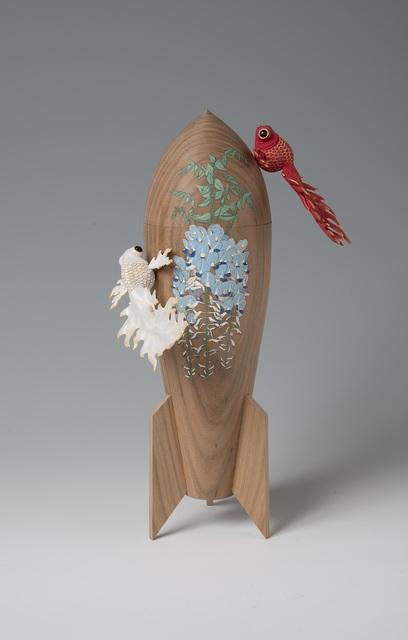 Yoshiki Masuda, 'Wisteria and Flaming Goldfish', 2019, SEIZAN Gallery