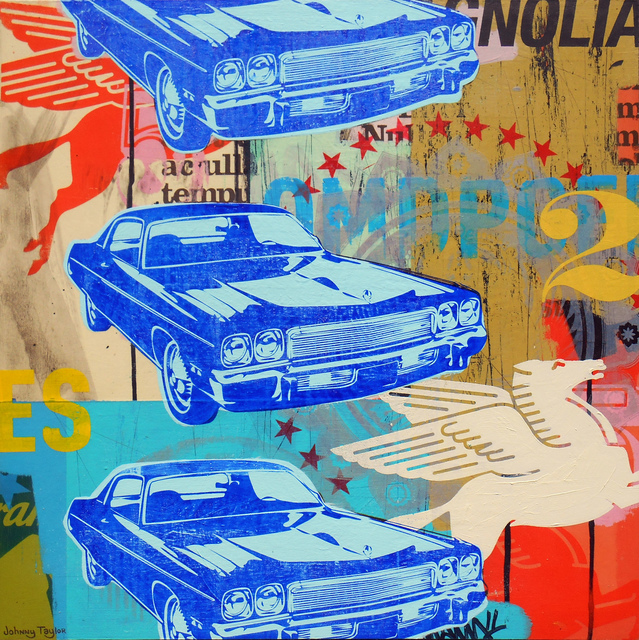 , 'Blue Cars,' 2016, Parlor Gallery