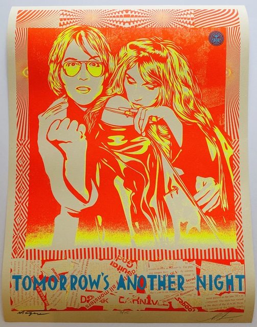 Shepard Fairey, 'Tomorrow's Another Night', 2019, The Linocut