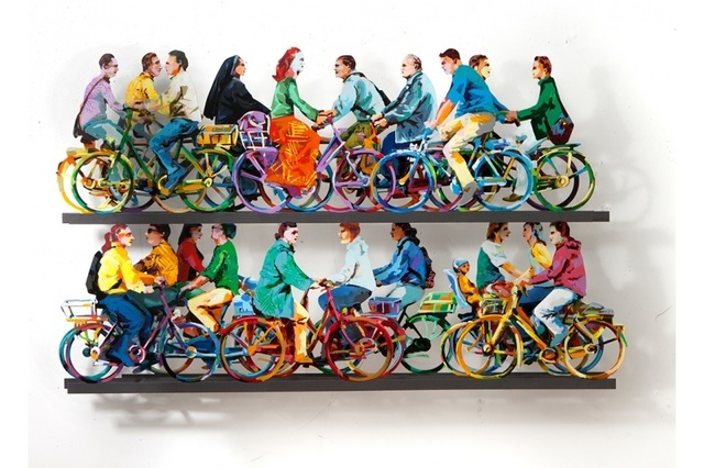 David Gerstein, 'City Riders B', 2016, Art Life Gallery