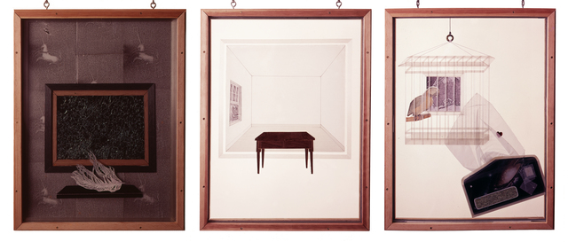 , 'Homage to Cornell, after Mallarmé: Parts 1 – 3,' 1976, Contemporary Arts Museum Houston