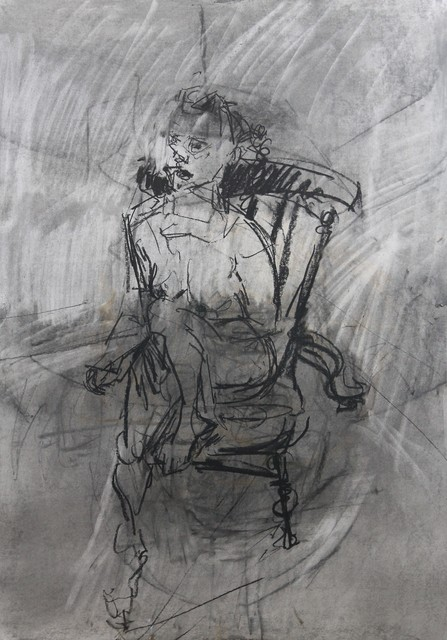 , 'Kerrine Seated Nude - Charcoal,' 2017, Castlegate House Gallery
