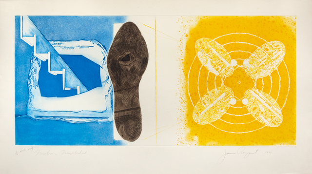 James Rosenquist, 'Nuclear Neighborhood; Towel, Star, Sunglasses (a pair of works from the Tripartite series)', 1977, Hindman