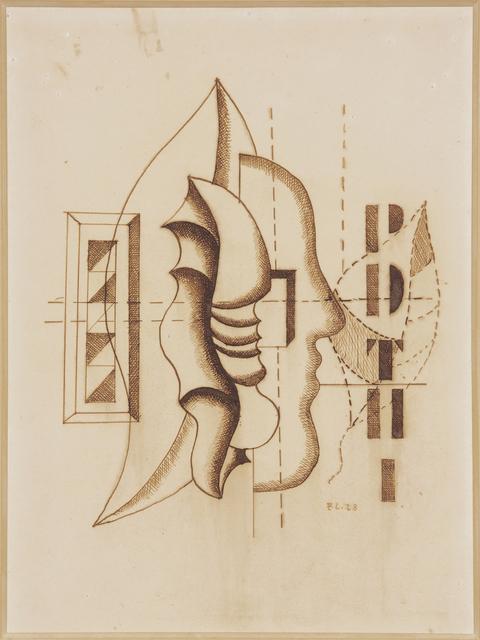 , 'Coquillages et profil,' 1928, DICKINSON