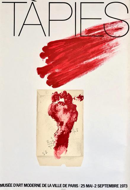 Antoni Tàpies, 'Antoni Tàpies Musée d'Art Moderne 1973 poster', 1973, Lot 180