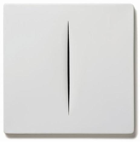 Lucio Fontana, ' Concetto Spaziale (Bianco)', 1968, Lougher Contemporary