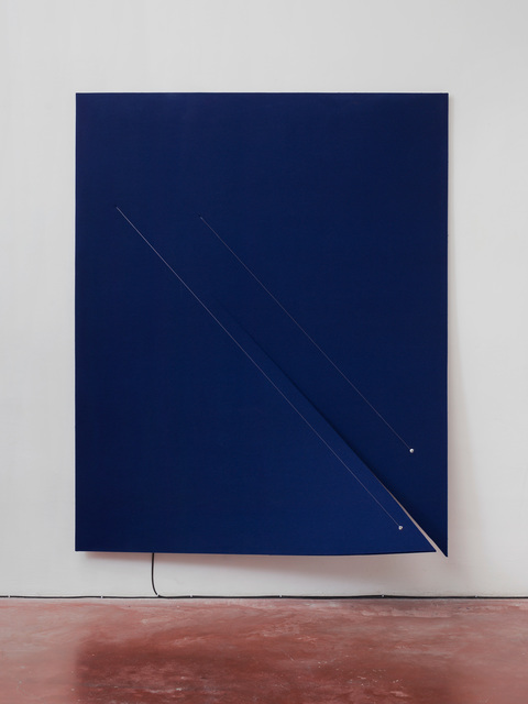 , 'Work On Felt (Variation 11), Dark Blue,' 2016, Dvir Gallery
